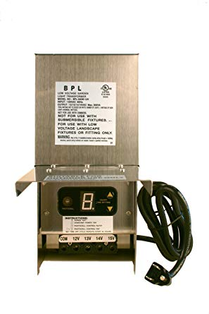 300W Stainless Steel Low Voltage Landscape Light Multi-Tap Transformer 12V, 13V, 14V, 15V