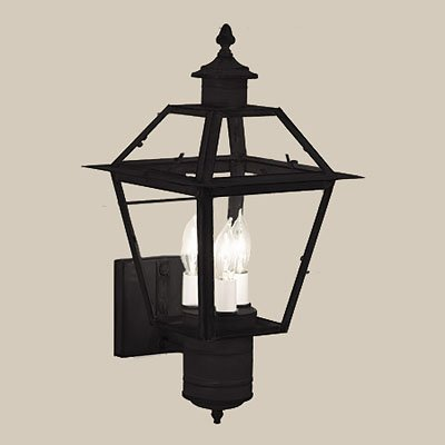 Norwell Lighting 2233-BL-CL Lexington - Three Light Outdoor Wall Mount, Black Finish With Clear Glass