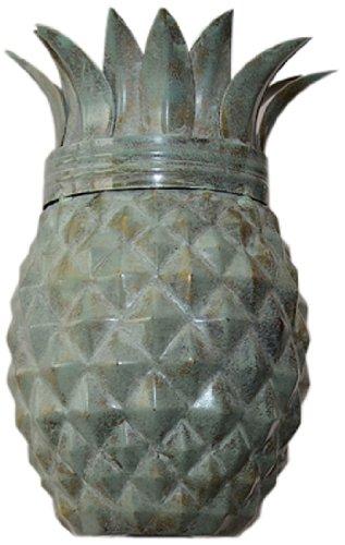 Set of 2 Pineapple Weathered Patina Tiki Torch