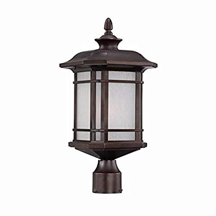 Acclaim 8117ABZ Somerset Collection 1-Light Post Mount Outdoor Light Fixture, Architectural Bronze