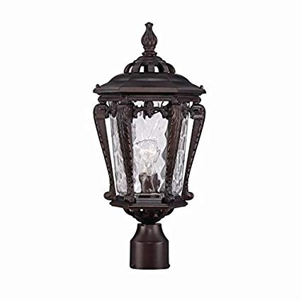 Acclaim 3557ABZ Stratford Collection 1-Light Post Mount Outdoor Light Fixture, Architectural Bronze