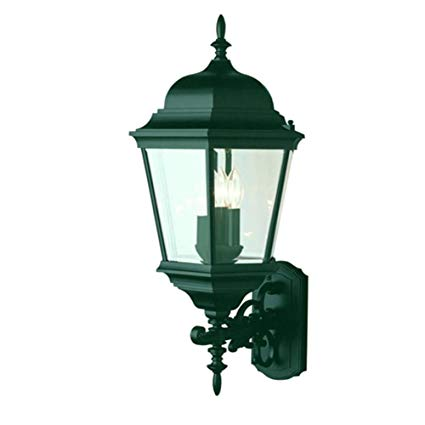 Transglobe Lighting 51000 VG Outdoor Wall Light with Beveled Glass Shades, Verde Green Finished