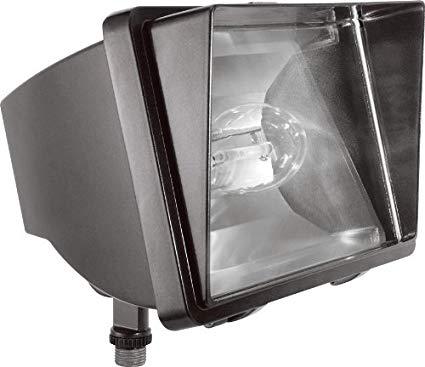 RAB Lighting FF70/PC Future Flood 70W HPS 120V NPF Lamp and 120V PC, Bronze