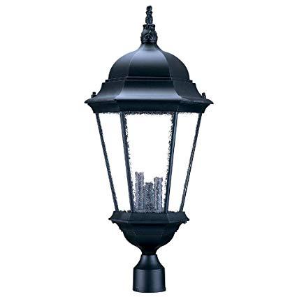 Acclaim 5208BK/SD Richmond Collection 3-Light Post Mount Outdoor Light Fixture, Matte Black