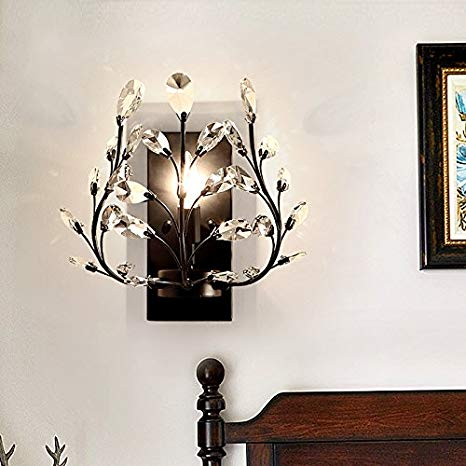 Leihongthebox Wall Sconce style reminiscent of the Wall Sconce Lamps Retro crystal chandeliers, Wall Sconce lights 31w33cm (Oil Rubbed Bronze)