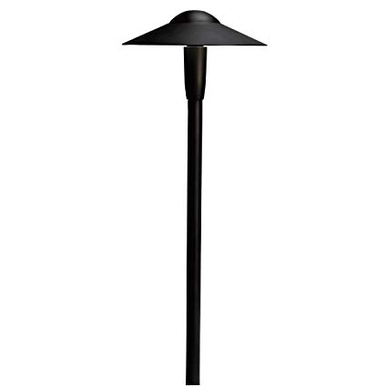 Kichler 15810BKT Dome LED Pathway Light, Textured Black