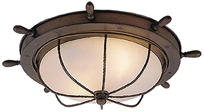 Vaxcel OF25515RC Orleans 15-Inch Outdoor Ceiling Light, Antique Red Copper