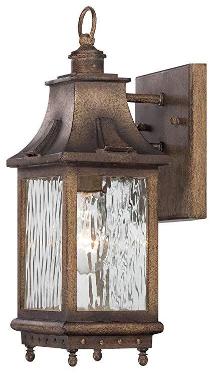 Minka Lavery 72111-149, Wilshire Park Aluminum Outdoor Wall Sconce Light, 30 Watts, Bronze