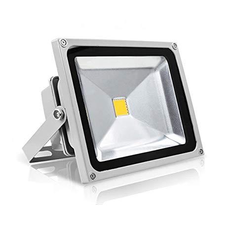 4PCS DC12V 24V Warranty 3 Years 50W LED Flood Light 12V LED Floodlight Outdoor Tunnel Spotlight Bulb (Warm White)