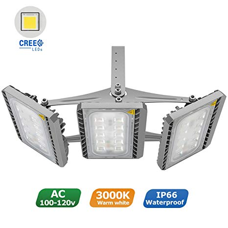 LED Flood Light Outdoor, STASUN 150W 13500lm LED Security Lights with Wider Lighting Area, 3000K Warm White, Built with CREE LED Chips, Waterproof, Great for Yard Street Parking Lot