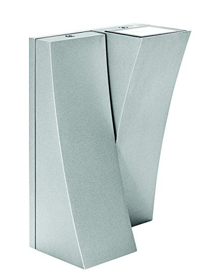 Access Lighting 23063MGLED-SAT/CLR Archer Two LED Light Wet Location Wall Satin Finish Sconce, Satin