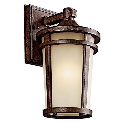 Kichler 49071BSTFL Atwood Outdoor Wall 1-Light Fluorescent, Brown Stone