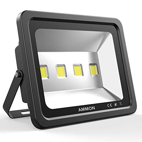 Ammon LED Flood Light, 200W Outdoor Waterproof IP65 20000lm Super Bright Flood Lamp Cool White 6000K Spotlight Lamp Daylight for Garden Yard, Party, Playground(black-200watt)
