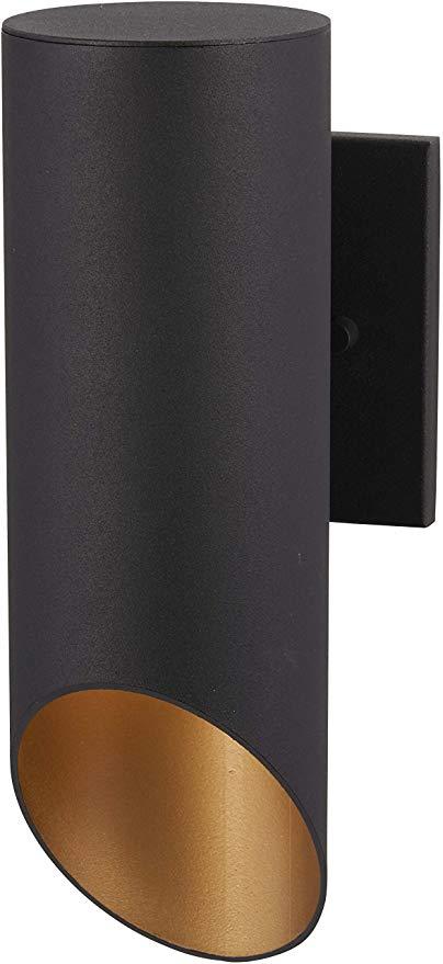 Minka Lavery Outdoor Wall Light 72611-66G Pineview Slope Exterior Wall Lantern, 1-Light 60 Watts, Black