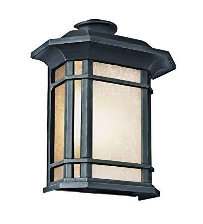 Trans Globe Lighting PL-5822-1 BK Outdoor San Miguel 14.75