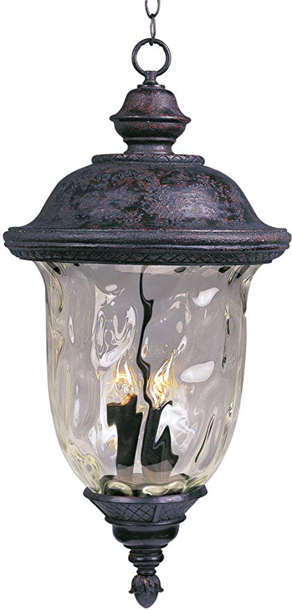 Maxim 3427WGOB Lighting Fixture in Oriental Bronze Finish - Outdoor Hanging Lantern for Courtyards, Gardens, Pool Sides. Home Decor Accessory