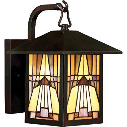 Quoizel TFIK8407VA One Light Outdoor Wall Lantern, Small, Valiant Bronze