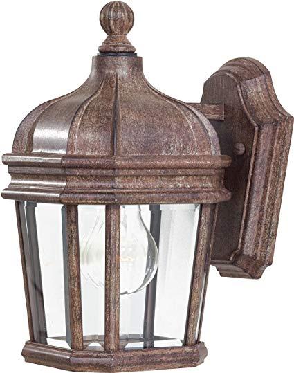 Minka Lavery Outdoor Wall Light 8690-61 Harrison Cast Aluminum Exterior Wall Lantern, 100 Watts, Rust