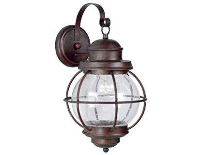 Kenroy Home 90962GC Hatteras Medium Wall Lantern, Blackened Gilded Copper Finish