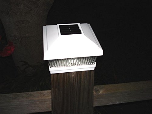 12-Pack White Solar 10MM LED Fence Post Cap Lights