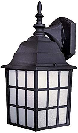Minka Lavery Outdoor Wall Light 8718-66 Bridgeport Exterior Wall Lantern, 40 Watts, Black