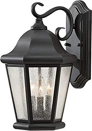 Feiss OL5902BK Martinsville Outdoor Patio Wall Lantern, 3-Light, 180watts, Black (10