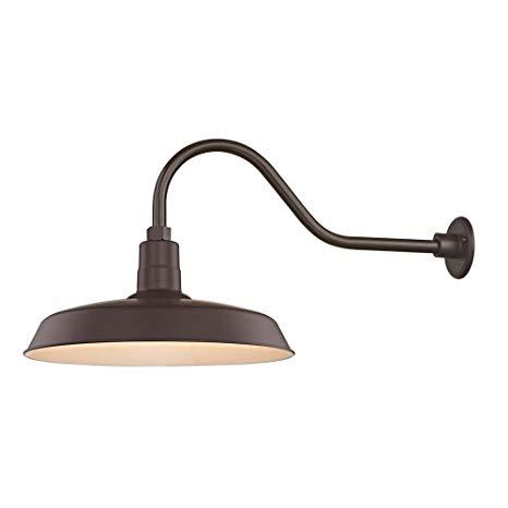 Bronze Gooseneck Barn Light with 18