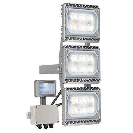Motion Sensor Light, STASUN 90W 8100lm LED Flood Light with Wider Lighting Area, 6000K Daylight, Built with Cree LED Source, Waterproof, Great for Driveway Patio Garden