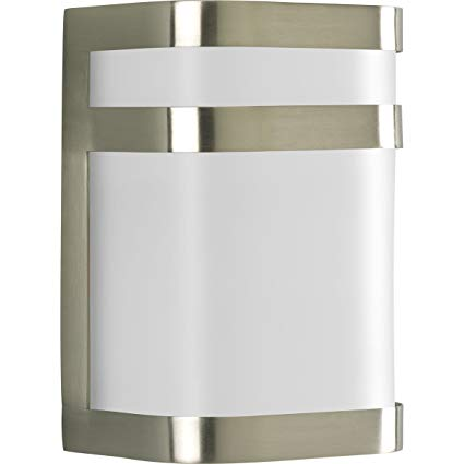 Progress Lighting P5800-09 1-Light Energy Efficient Compact Fluorescent Small Wall Lantern, Brushed Nickel