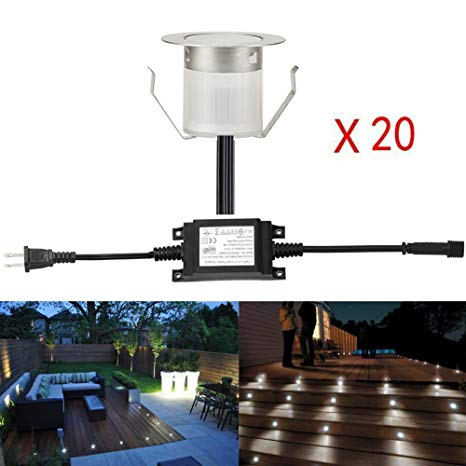Sumaote Low Voltage LED Deck Light Kit Φ1.85