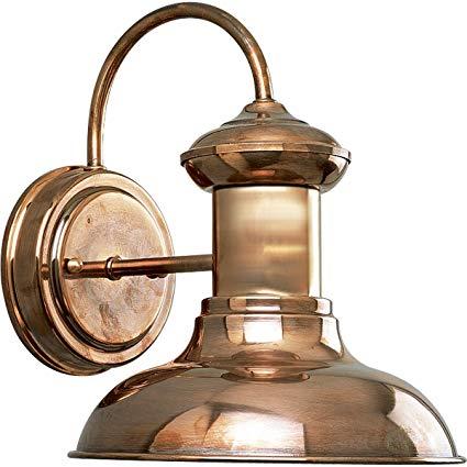 Progress Lighting P5721-14 1-Light Wall Lantern, Copper