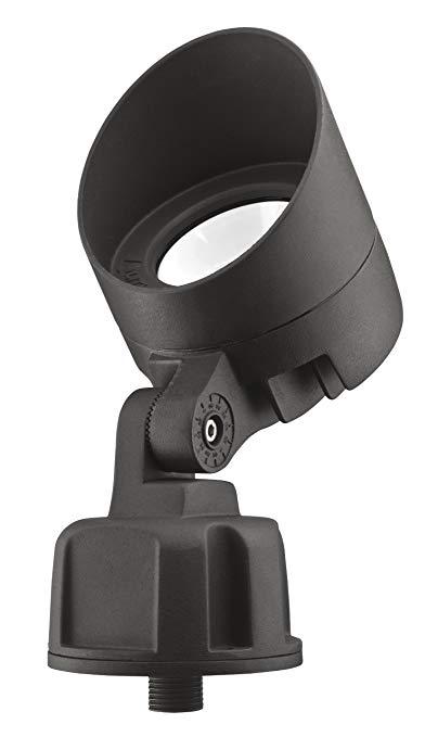Lithonia Lighting OLB F 8 30K DDB M6 Bullet LED 3000K Floodlight, Black Bronze